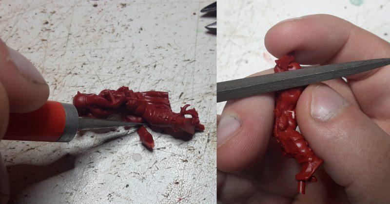 Préparation de la figurine - Ebarbage